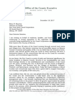 Letter From County Executive Dinolfo