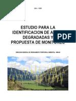 Estudio de Identificación de Áreas Degradadas