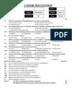 Chemistry Test # 2 (R2) 12-10-13 (Ali Raza Sb.)