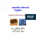 Automatic Street Light Using Ic555 and Ldr(Student Name Albin)