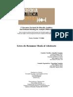 Filosofia Analítica (Resumos em inglês e português).