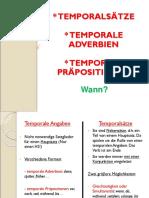 Temporalsätze Und Temporale Ausdrücke