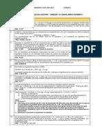 Ejercitario U10. Equilibrio Químico. 2017