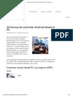 10 Formas de Controlar Android Desde El PC • Android Jefe