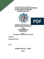 Conocimiento Cientifico Monografia Tecno