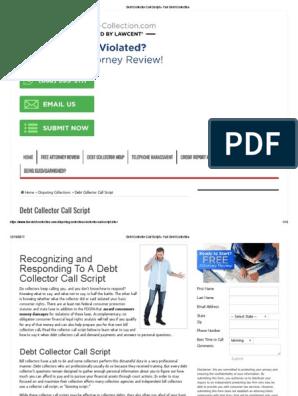 Debt Collector Call Script » Fair Debt Collection | Debt