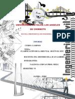 Informe de Caminos 002 Clasificacion de Red Vial Segun Mtc