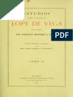 Menendez Pelayo Estudios Teatro de Lope II