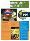 Cleaners Join the RMT