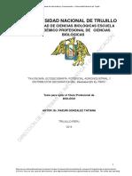 Taxonomía, Ecogeografía, Potencial Agroindustrial y Distribución Geográfica Del Vaccinium en El Perú
