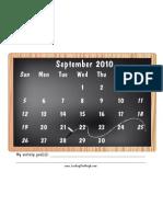 Activity September 2010 Blackboard