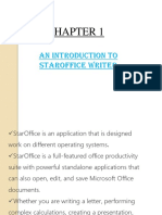 An Introduction to Staroffice Writer Chapter 1