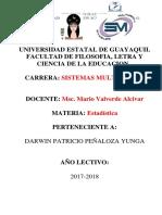Portafolio de Estadisticas  8vo - C1