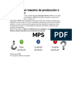 Qué Es Plan Maestro de Producción o MPS