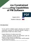 Resource Constrained Scheduling Capabilities Zorin Liberzon