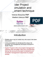 Spider Project Risk Simulation and Management Technique