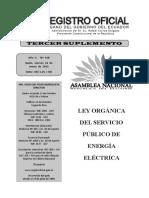 Registro Oficial n 418 Ley Organica Del Servicio Publico de Energia Electrica