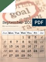 Activity September 2010 Goals