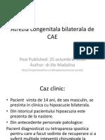 Atrezia Congenitala CAE