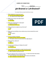 are you right-brained or left-brained clc 15