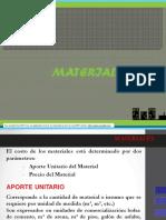 Aportes de Materiales en Los Acu