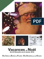 Programme Des Vacances Scolaires de Noel 2017 sur Vannes