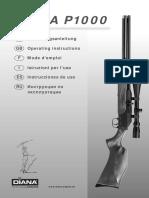 Diana p1000 Pcp Repeating Air Rifle Owners Manual