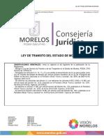 LEY DE TRANSITO DE MORELOS