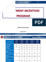 Presentation on Investment Incentives System