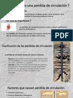 Presentación de diapositivas sobre pérdidas de circulación