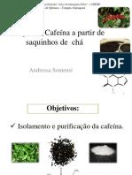 9 - Extração e Purificação da Cafeína – LIC 2013