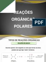Carolinarigos-Aula 9 Reaçoes Organicas