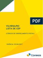 ZGuia Local de CEP - Vilhena-RO