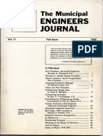 Municipal Engineers Journal Fall 1985 Vol 71