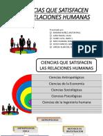 Ciencias Que Satisfacen Las Relaciones Humanas