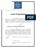 Crime Organizado - Resumo
