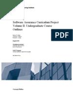 Software Assurance Curriculum Project Volume II