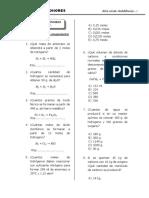 Estequiometria (Ejercicios) - 3er Año