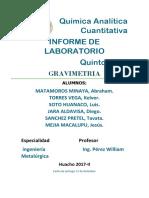 Química Analítica Cuantitativa Informe