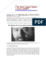 Mario Vargas Llosa Sobre Hernando de Soto