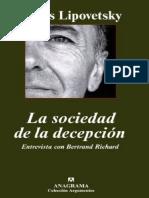 Lipovetsky, G. - La sociedad de la decepción.pdf