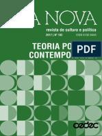 Dossiê Teoria Política Contemporânea (Lua Nova)