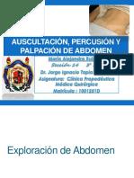 Abdomen (Auscultacion, Percusion, Palpacion)