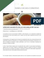 Aprovechamiento de La Cascarilla de Cacao _ Viva El Cacao