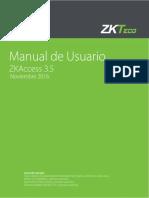 ZKAccess 3-5 Manual de Usuario