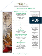 events at the memorial garden 1-7-18