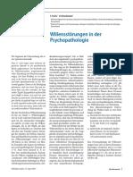 Voluntad y Psicopatologia