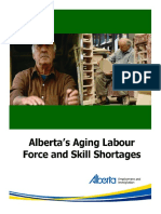 Alberta Aging Labour Force and Skill Shortages
