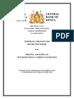 Tender for Procurement of New Design Currency Cbk-37-2017-2018 - Final Bidder No Pass