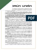Manifiesto Del Colectivo Comun Union